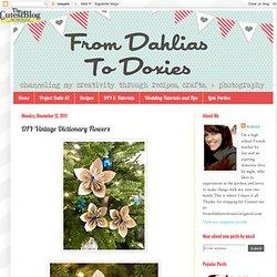 Dictionary Flowers