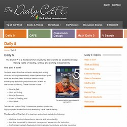 Daily 5 - The Daily Cafe - The Daily Cafe