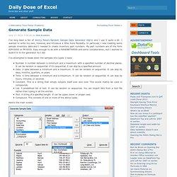 Generate Sample Data