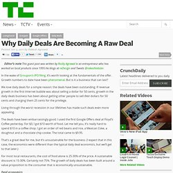 Why Daily Deals Are Becoming A Raw Deal