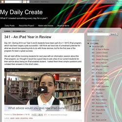 My Daily Create: 341 - An iPad Year in Review