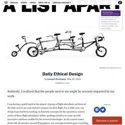 Daily Ethical Design