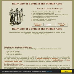 Daily Life of a Nun in the Middle Ages