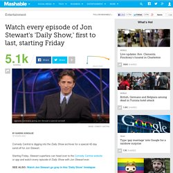 'Daily Show' marathon to kick off with Jon Stewart's first episode