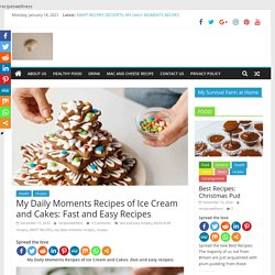 My Daily Moments Recipes of Ice Cream and Cakes: Fast and Easy Recipes