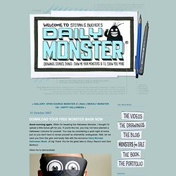 THE DAILY MONSTER: DOWNLOAD YOUR FREE MONSTER MASK NOW