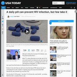 A daily pill can prevent HIV infection, but few take it