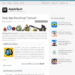 Daily App Round-up 7 januari