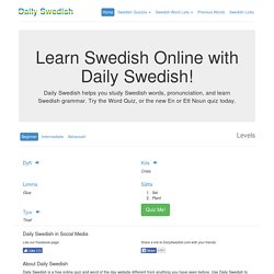 Daily Swedish - Learn 5 New Swedish Words Every Day