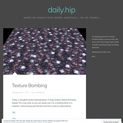 daily.hip – Page 3 – more like weekly now (sorry, monthly) (… ok, ok, yearly)