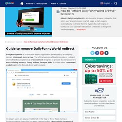 How to Change DailyFunnyWorld Browser Homepage?