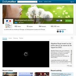 developpement-durable: vidéos sur Dailymotion