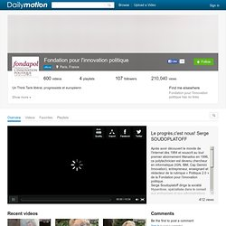 Fondation pour l'innovation politique (fondapol): Ses vidéos, favoris et bien plus encore