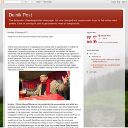 Dainik Post: Hang Around With Important Nepali Daily Breaking News