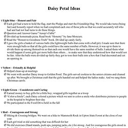 Daisy Petal Ideas