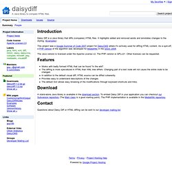 daisydiff - Project Hosting on Google Code