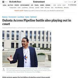 Dakota Access Pipeline battle also playing out in court