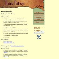 Dakota Pathways Teachers Guide