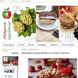 Aktywne Żywienie: Placek jaglany z kremem daktylowym, orzechami i truskawkami