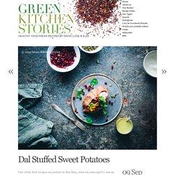 Dal Stuffed Sweet Potatoes