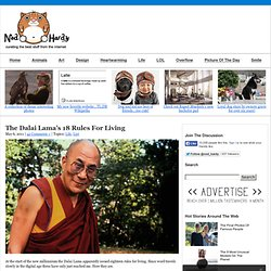 The Dalai Lama's 18 Rules For Living - StumbleUpon