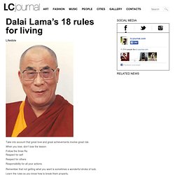 Dalai Lama's 18 rules for living