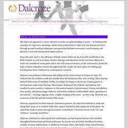Dalcroze Society of America - What is Dalcroze?