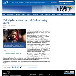 Dalindyebo resolute over call for him to step down :Sunday 3 August 2014
