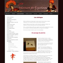 Dallages - peinture de figurines - le site de jfp