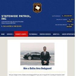 Hire a Dallas Area Bodyguard