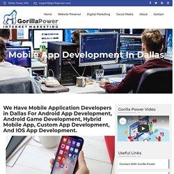 Android & I phone App Development Dallas