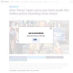 Dallas shooting and Texas' open carry gun laws