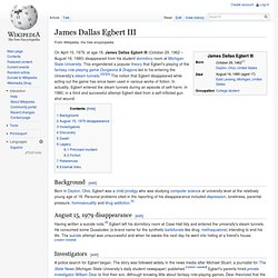 James Dallas Egbert III