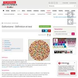 Daltonisme - Définition et test