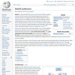 Dalvik (software)