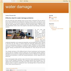 water damage : Effective deal for water damage problems