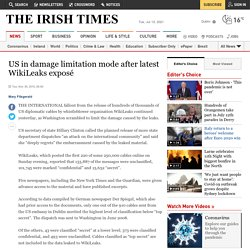 US in damage limitation mode after latest WikiLeaks exposé - The Irish Times - Tue, Nov 30, 2010