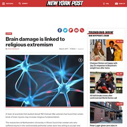 Brain damage is linked to religious extremism