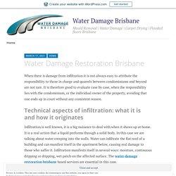Water Damage Restoration Brisbane – Water Damage Brisbane