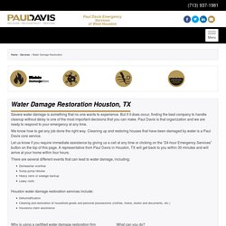 Water Damage Restoration Houston
