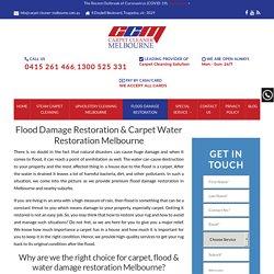 Carpet Water Damage Restoration - Call 0415 261 466