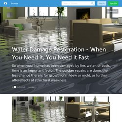 Water Damage Restoration - When You Need it, You Need it Fast (with image) · Piedmontwd