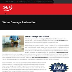 Water Damage Restoration - Water Removal - 407 218 6427