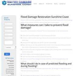 Flood Damage Restoration Sunshine Coast - Water Damage Sunshine Coast