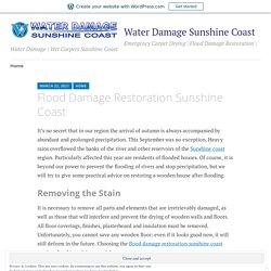 Flood Damage Restoration Sunshine Coast – Water Damage Sunshine Coast