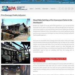 Professional fire damage claim in Stuart, FL