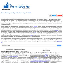 Damodaran On-line Home Page