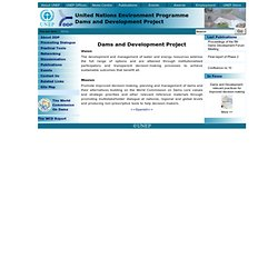 Dams and Development Project