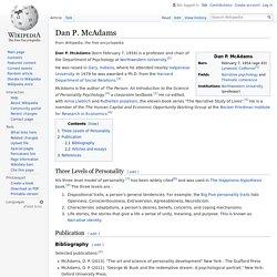 Dan P. McAdams - Wikipedia (Annotated)