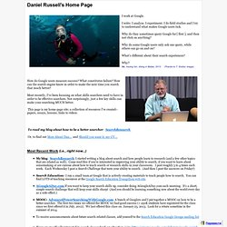 Dan Russell's Home Page & Site